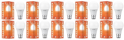 Halonix 10 W Round B22 LED Bulb  (White, Pack of 10)
