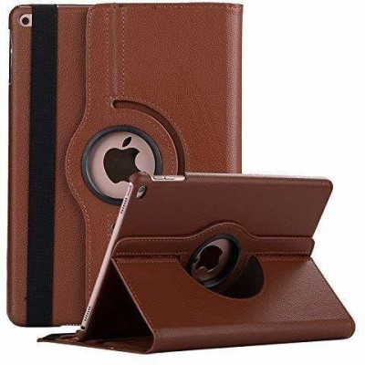 TGK Book Cover for Apple iPad 9.7 inch (2018) 6th Generation A1893, A1954 Rotating Stand Smart Flip Case(Brown, Cases with Holder)