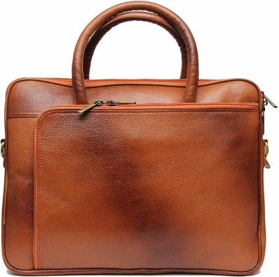 C Comfort 15 inch Laptop Messenger Bag Tan