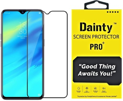 Dainty Edge To Edge Tempered Glass for Realme XT, Realme X2(Pack of 1)