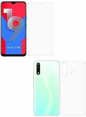 FIRST IMPRESSION Front and Back Tempered Glass for Vivo y19(Pack of 2)