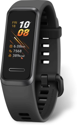 Huawei Band 4(Black Strap, Size : Regular)