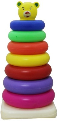 jmv Stacking Colouring Teddy Rings - 7 Rings(Multicolor)