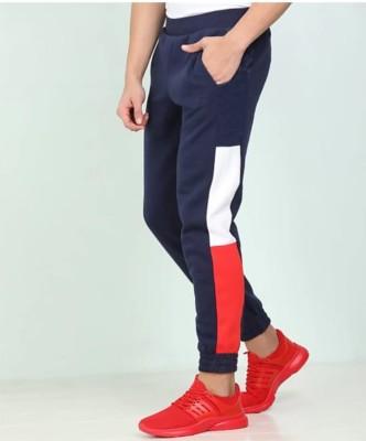 FastColors track pants lower men mens wear boys Color Block Men Red, Blue Track Pants