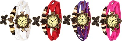Style Keepers Butterfly Dori Pack of 2 Leather Belt Girls watch Analog Watch  - For Women