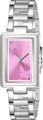 LORETTA New Latest Choice Premium Quality Stylish N Classy Pink Butterfly Square Dial MT_213 Analog Watch  - For Women