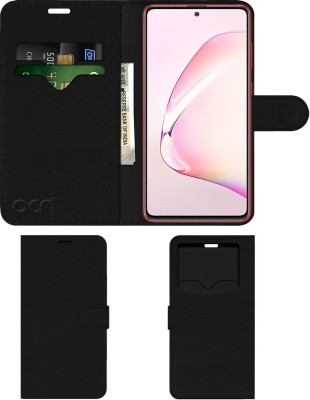 ACM Flip Cover for Samsung Galaxy Note10 Lite(Black, Cases with Holder)