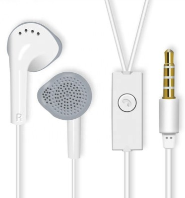 ajd Original High Quality Headphone Wired Headset(White, Wired in the ear)