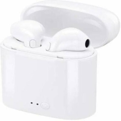 RAW RUNNER i7s TWS Double Wireless Bluetooth Earbuds with Charging Dock Bluetooth Headset(White, True Wireless)