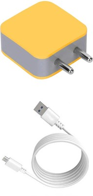 DAKRON Wall Charger Accessory Combo for Tecno Spark 4 Air(White)
