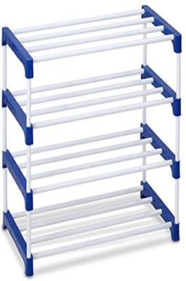 Ebee Metal Shoe Stand(Blue, 4 Shelves)
