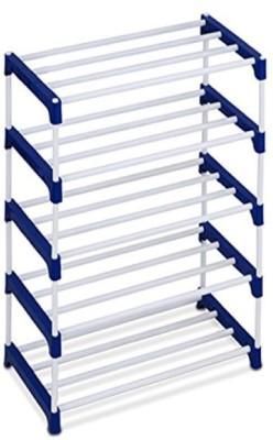 Ebee Metal Shoe Stand(Blue, 5 Shelves)