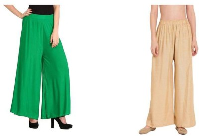 SMDG Regular Fit Women Green, Beige Trousers