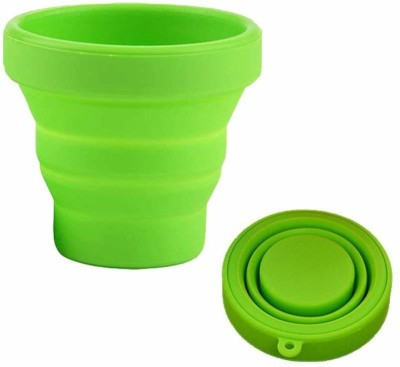 Right Traders Portable Water Silicone Cup   Folding Gargle Cup Plastic Tumbler(180 ml)