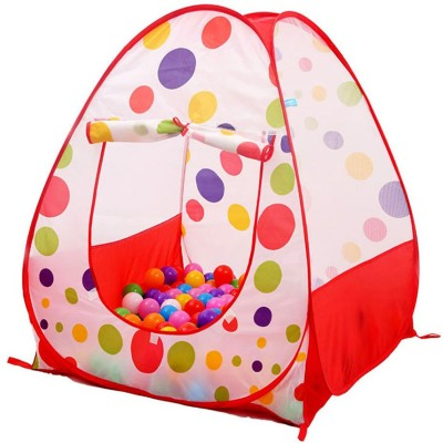 Sasimo Baby Game Play Tent Foldable Children Kids Pop Up Ocean Ball Play Tent Indoor Outdoor Playhouse Tent Garden Playhouse Kids Tents Multicolor Sas