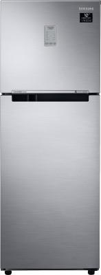 SAMSUNG 253 L Frost Free Double Door 3 Star Convertible Refrigerator(Elegant Inox, RT28T3743S8/HL)