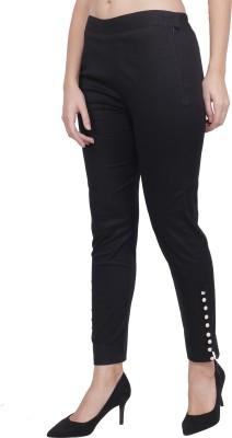 popwings Regular Fit Women Black Trousers