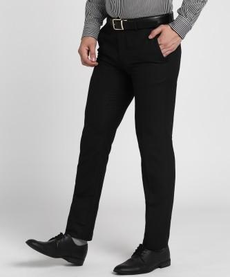 fellow Slim Fit Men Black Trousers