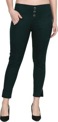 Popwings Regular Fit Women Dark Green Trousers