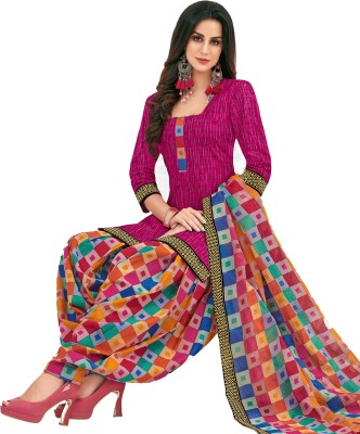Reya Crepe Printed Salwar Suit Material   Unstitched  Reya Dress Materials