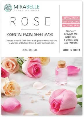 Mirabelle ROSE FACE SHEET MASK PK1| 25 ml