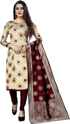 MANIKARNIKA Brocade Self Design Salwar Suit Material(Unstitched)