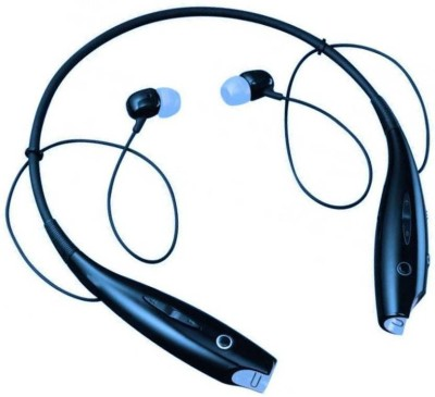 BAGATELLE Sports Stereo Headphones Bluetooth Headset(Black, Wireless in the ear)