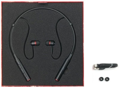 kluzie Neckband Earphone Magnetic Adsorption Stereo Bluetooth Headset(Black, Wireless in the ear)