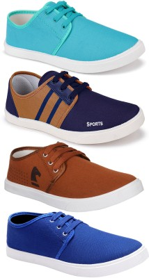 World Wear Footwear Combo Pack of 4 Latest Collection Stylish Casual Loafer Sneakers Shoes Sneakers For Men(Multicolor)