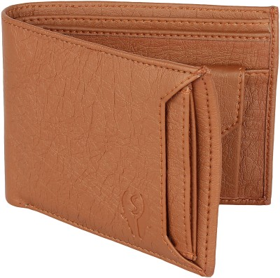 SAMTROH Men Tan Artificial Leather Money Clip(6 Card Slots)