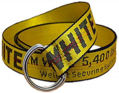 beltly Men & Women Casual Yellow, Black Fabric Belt