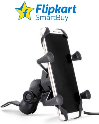 Flipkart SmartBuy 2Amp fast charger with Bike Mobile Holder Black