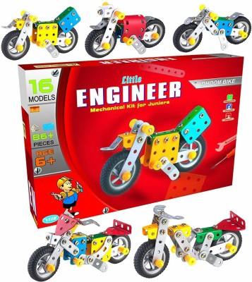 veer Little Engineer Mechanical Kit for Juniors DHOOM BIKE Multicolor veer Blocks   Building Sets