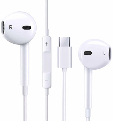 Samear Type C white earphone for 7 Pro, 7, 6t, 6 and...