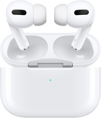 Apple Airpods Pro With Wireless Charging Case Active noise cancellation enabled Bluetooth Headset  (White, True Wireless)