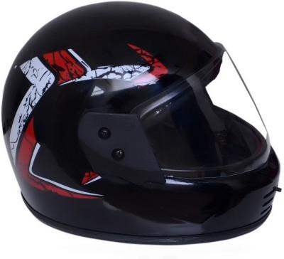 Dvis Full Face Helmet Motorbike Helmet-Red/Silver Motorbike Helmet(Red)