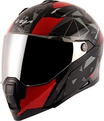 VEGA STORM DRIFT Motorbike Helmet(BLACK RED)