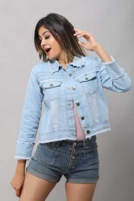 GSA MALL 3/4th Sleeve Self Design Women Jacket