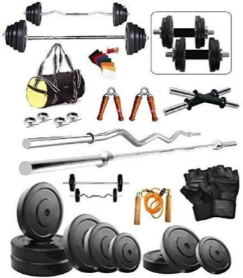 Aurion Home Gym Dumbbell Set With Weight Plates and Rods Gym & Fitness Kit