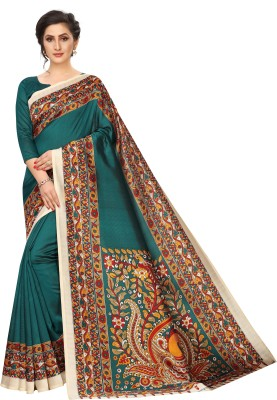 MISILY Printed Fashion Art Silk Saree(Light Blue)