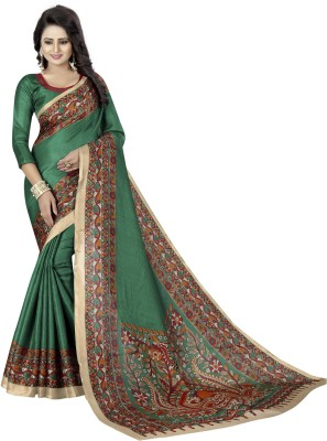 MISILY Printed Daily Wear Art Silk Saree(Green)