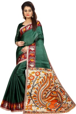 MISILY Self Design Dharmavaram Art Silk Saree(Green)