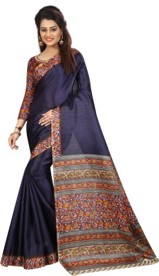 MISILY Self Design Dharmavaram Art Silk Saree(Dark Blue)