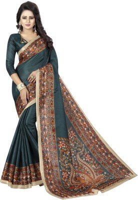 MISILY Printed Daily Wear Art Silk Saree(Blue)