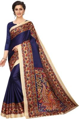 MISILY Printed Fashion Art Silk Saree(Dark Blue)