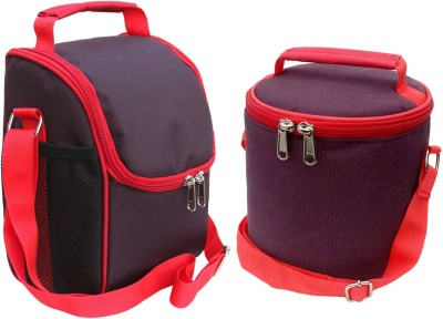 Aafeen Office Use Tiffin Bags Combo for Man Women Waterproof Lunch Bag(Purple, Red, 1 L)