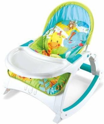 Webby Newborn to Toddler Baby Rocker with Table Rocker and Bouncer(Multicolor)