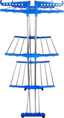 SUNDEX Steel Floor Cloth Dryer Stand j - blue - steel(3 Tier)