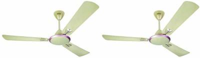 USHA Striker Galaxy GBD 1200 mm Anti Dust 3 Blade Ceiling Fan(Corn Silk, Pack of 2)