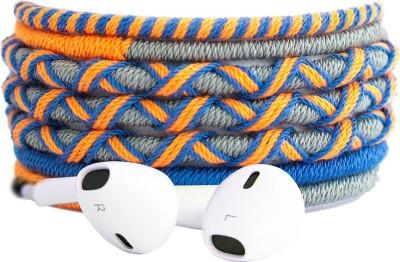 CROSSLOOP Designer Series Wired Headset(Orange, Grey, In the Ear)